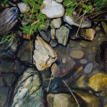 BACHSTÜCK 3, 30 cm x 40 cm,  2006, Öl auf Leinwand