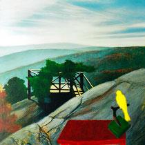 DIESSEITS DER HÜGEL, 80 cm x 100 cm, 2001, Öl auf Leinwand