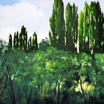 LICHTSCHNEISE, 2003, 80 cm x100 cm, Eitempera und Öl auf Leinwand
