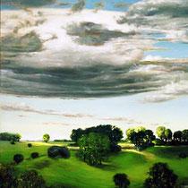 ENGLISCHE LANDSCHAFT, 2005, 100 cm x 120 cm, Eitempera und Öl auf Leinwand