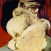 FIGUR IN BEWEGUNG, 1989, 30 cm x 40 cm, Öl auf Leinwamd