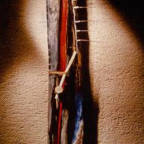 GEBURT DER LEIDENSCHAFT, 1981, Holz, Mixed Media