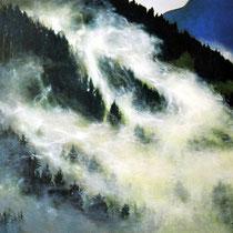 PARTISANENWALD, 2002, 40 cm x 70 cm, Eitempera und Öl auf Leinwand