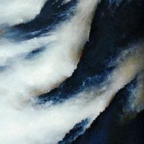 NEBEL IM STEILHANG, 60 cm x 125 cm, 2002, Öl auf Leinwand