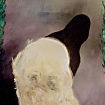 DER KOPF DES PHILOSOPHEN, 80 cm x 100 cm, 1989, Öl auf Leinwand