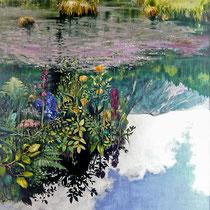 INSEL AUF WOLKEN, 2007, 80 cm x 100 cm, Öl auf Leinwand