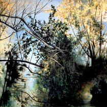 THE LONG WALK, 2004, 120 cm x 140 cm, Eitempera und Öl auf Leinwand