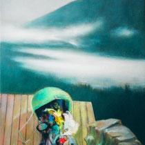 GESCHEITERTES UNTERNEHMEN, 30 cm x 40 cm, 2001, Öl auf Leinwand
