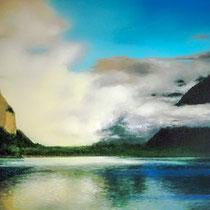 NACH DEM REGEN, 80 cm x 100 cm, 2001, Öl auf Leinwand