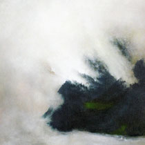 LICHT IM NEBEL, 2001, 70 cm  x 145 cm, Eitempera und Öl auf Leinwand