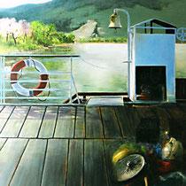 SELTSAME FRACHT, 60 cm x  80 cm, 2000, Öl auf Leinwand