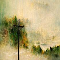 REGENVORHANG, 2001, 100 cm x 120 cm, Eitempera und Öl auf Leinwand