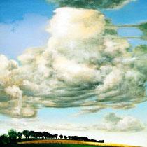 GROSSE WOLKE, 2005, 100 cm x 120 cm, Eitempera und Öl auf Leinwand