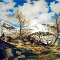 LICHTWECHSEL, 80 cm x 140 cm, 2002, Öl auf Leinwand