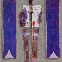 FASSADE DES SCHMERZES, 1984, Terrakotta, bemalt, Mixed Media