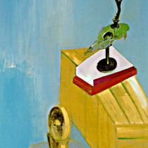 ZEITENWENDE 2, (Diptychon), 1998, 80 cm x 100 cm, Öl auf Leinwand