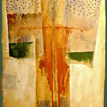 """Aus dem Zyklus """"HÄUTUNGEN"""", 1984, 30 cm x 50 cm, Mixed Media"""