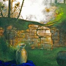 VERBORGENE LICHTUNG , 60 cm x 80 cm, 2003, Öl Auf Leinwand