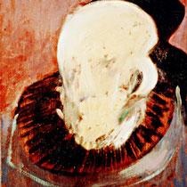 TEMPORÄRER CLOWN, 1989, 30 cm x 40 cm, Öl auf Leinwand