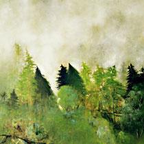 NACH DEM REGEN, 2004, 60 cm x 80 cm, Eitempera und Öl auf Leinwand