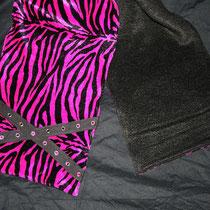 Zebraspider Fleece Schal Zebra pink Ösenband