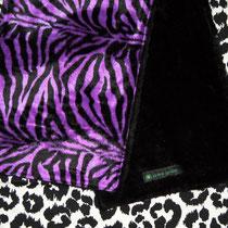Zebraspider Fell Schal Zebra lila warm