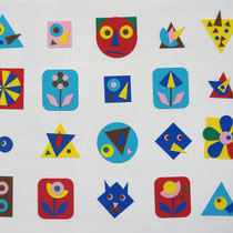 Geometric Brooches / 2013 / Felt work