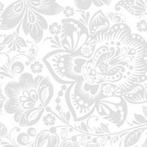 Brautkleidbox Größe L - Blütentraum silber