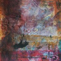VIA LACTEA PARKING - Peinture acrylique sur papier - 51 x 41 cm (encadré)