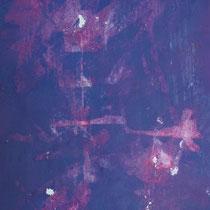 Peinture acrylique sur papier lacéré - 51 x 41 cm (encadré)