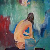 POUR LE MEILLEUR ET POUR LE PIRE - Peinture acrylique sur toile - 130 x 162 cm