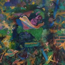 COMME UN SINGE EN HIVER - Peinture acrylique sur toile - 130 x 162 cm