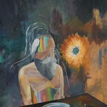 L'ART DE SE NOURRIR - Peinture acrylique sur toile - 130 x 162 cm