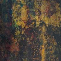 UN VERRE DE TERRE - Peinture acrylique sur papier - 51 x 41 cm (encadré)