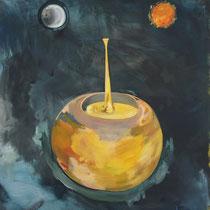(RE)INCARNATION  - Peinture acrylique sur toile - 130 x 162 cm