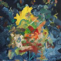 INTERLUDE 1 - Peinture acrylique sur toile - 50 x 65 cm