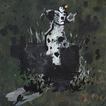 LE MEILLEUR AMI DE L'HOMME - Peinture acrylique sur toile - 130 x 162 cm