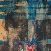 EST-CE QU'IL REVE EN COULEURS ? - Peinture acrylique sur papier - 51 x 41 cm (encadré)