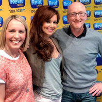 "26 avril 2012 - Cheryl à Real Radio North East pour la promo de ""Call My Name""."