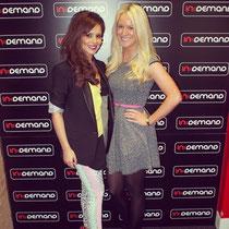 """26 avril 2012 - Cheryl à la radio InDemand pour la promo de """"Call My Name""""."""