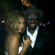 04/08/2011 - Cheryl et Will.I.Am à Cannes.