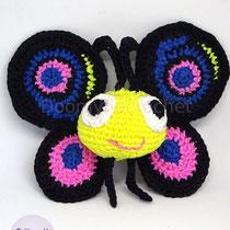 Amigurumi papillon inspiré du logo de Perl6