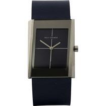 Rolf Cremer Damen-Armbanduhr Blade Analog Quarz 502001 Rolf Cremer      ausgefallene Damenuhr     mattes asymmetrisches Edelstahlgehäuse     Abmessungen 28 x 38 mm, Höhe 8,5 mm     blaues Lederarmband mit Dornschließe     blaues Zifferblatt mit verspiege