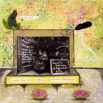 Art de vivre - techniques mixtes sur toile (20x20cm - 60€) ©B.Dupuis
