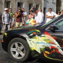 La dernière voiture le jour de l'inauguration...