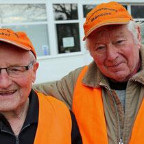 Zwei Freunde: links Heinz Willi Bongartz und rechts Hans Schröder