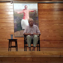 June 2015 : Bill giving a talk in the Meeting Place at the Meher Center, Myrtle Beach, SC. Photo taken by Anthony Zois