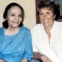 India - 1986 : Mehera with Vesta Clinton