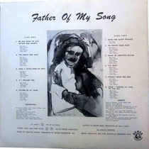 Father Of My Song - back cover ( LP )