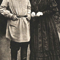 Count Leo Tolstoy & wife